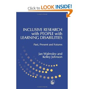 Cover of the book Inclusive Research with People with Learning Disabilities: Past, Present and Futures